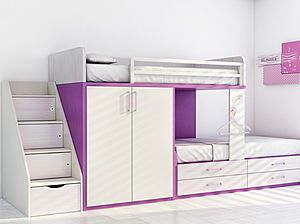 This might be a good option for the girls room.Kids Bedrooms, Bunk Beds With Storage, Kids Room, Storage Cabinets, Girls Room, Beds Storage, Cabinets Girls, Kids Storage, Kids Bunk Beds