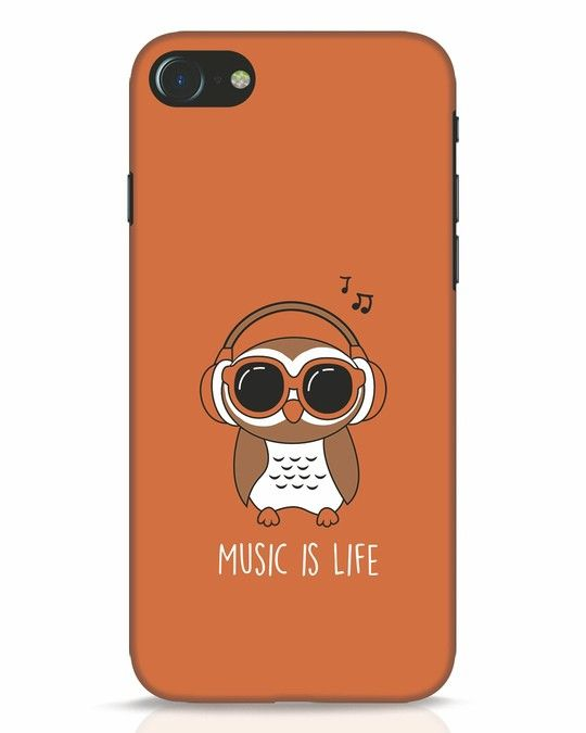 pretty nice d72c4 482d6 Owl Headphones iPhone 7 Mobile Cover | IPhone 7 Cover Designs ...