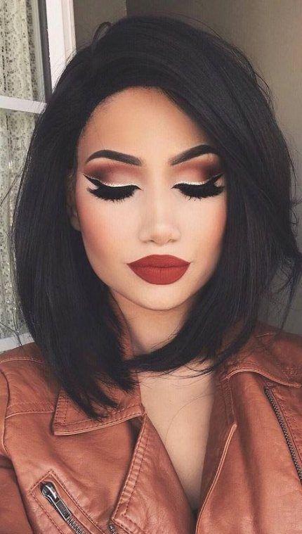 Makeup eyeshadow smokey black sparkle 65+ Ideas #makeup
