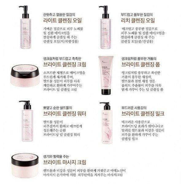 The Faceshop Rice Water Bright Cleansing Milk