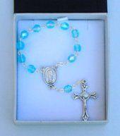 Handheld Turquoise Rosary Beads.