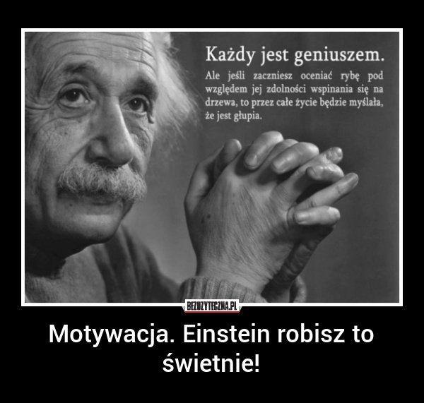 Motywacja. Einstein robisz to świetnie! » Bezuzyteczna.pl | Codzienna dawka wiedzy bezuzytecznej