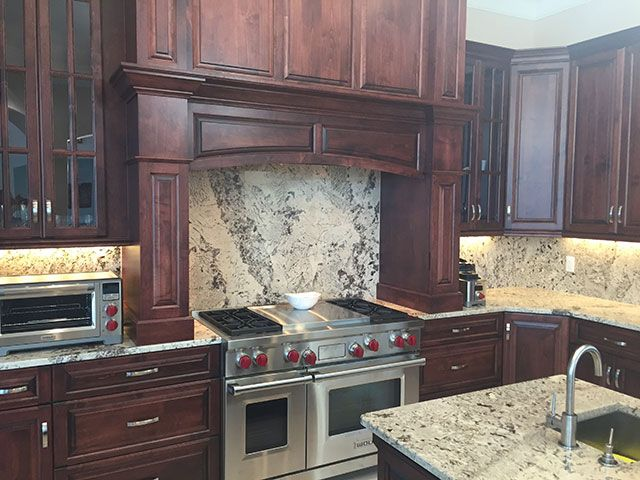 Awesome Backsplash Made In The Same Material As The Whole