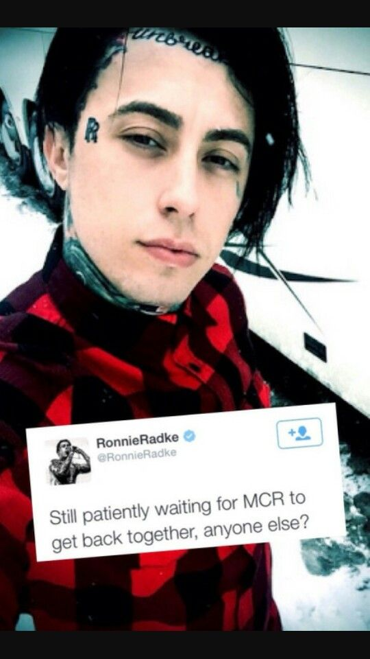 RONNIE RADKE GETS MORE AWESOME/ ADORABLE ALL THE TIME! AND HE ALSO WANTS MCR TO GET BACK TOGETHER!!