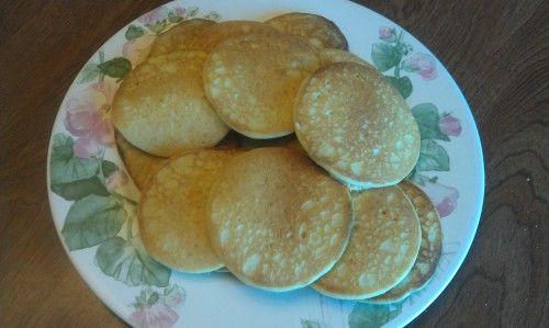 Fluffy Almond Meal Pancakes Recipe Breakfast and Brunch with almond flour, eggs, water, oil, baking soda, salt, sweetener