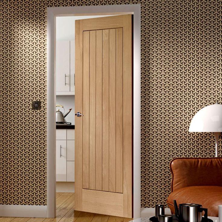 Door Set Kit, Suffolk Oak Door   Vertical Lining   Prefinished.  #doorsetskits #