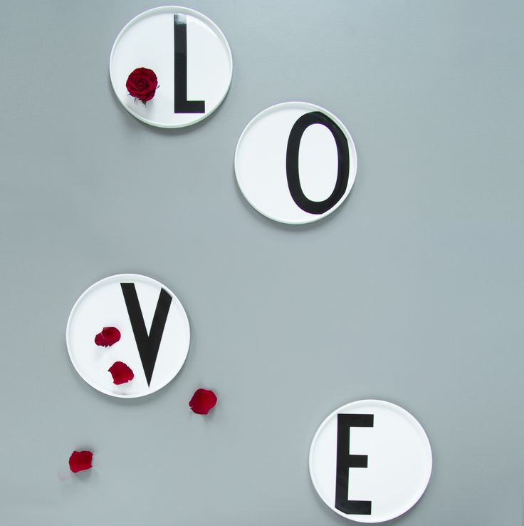 Valentines idea: A Personal plate, or spell LOVE! A perfect valentines gift for him and her. With AJ Vintage ABC typography.
