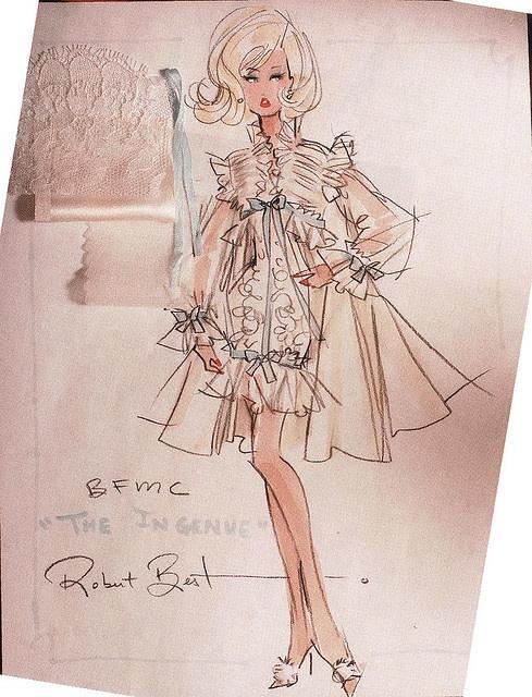 The Ingenue. Robert Best: Barbie Illustration, Fashion Sketches, Barbie Art, Vintage Barbie, Barbie Sketches, Fashion Illustrations, Design, Robert, Drawing