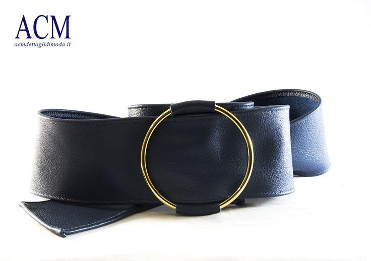 Cintura a fusciacca in vera pelle con fibbia anello #leather #belt  #woman #ring