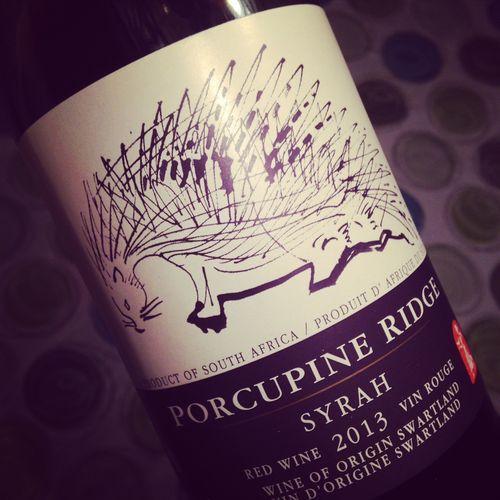 Porcupine Ridge Syrah Swartland 2013 #dansmonverre