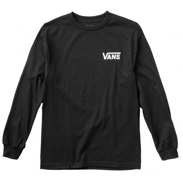 Vans x Thrasher Cardiel Long Sleeve T-Shirt ($47) ❤ liked on Polyvore featuring tops, t-shirts, long sleeve tops, vans top, vans t shirt, vans tee and longsleeve tee