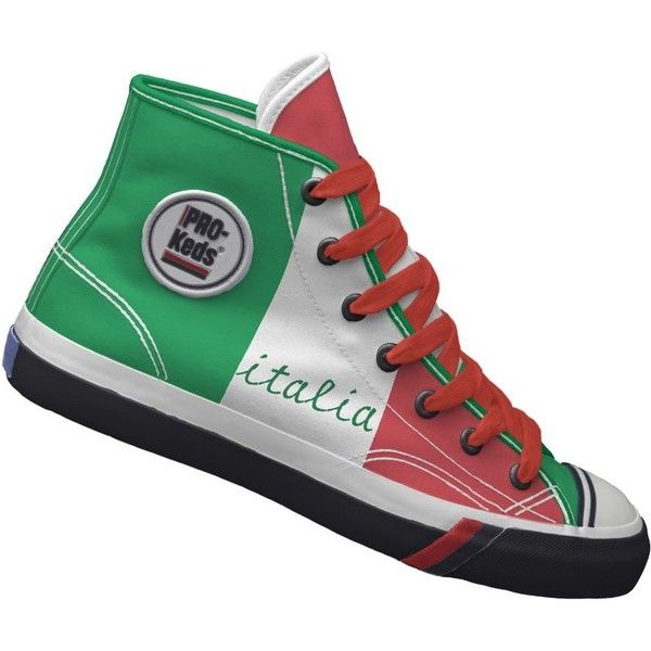aaaaaaaaaah *italian* shoes.......Beautiful italy Flag Custom Pro Keds Hi-top Sneakers..... ;-)