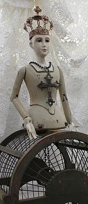 Beautiful!Cage Doll, Beautiful Santo, God Saint Santo Idunno, Santo Cages, Santo Mannequin