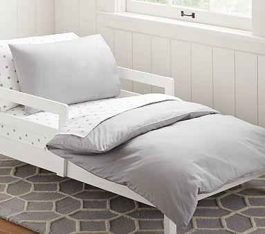 Organic Cotton Toddler Duvet Cover Gray