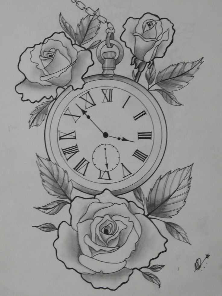 tätowierung r tattoo  alte uhr tattoo rosen tattoo uhr