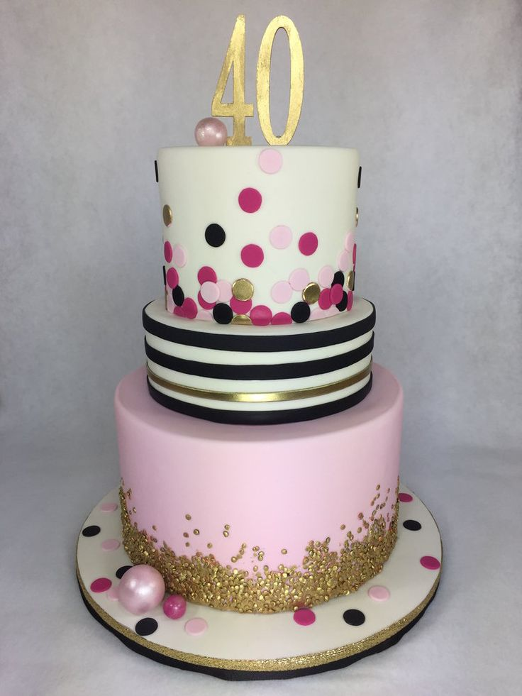Kate Spade Inspired 40th Birthday Cake Pearland Houston