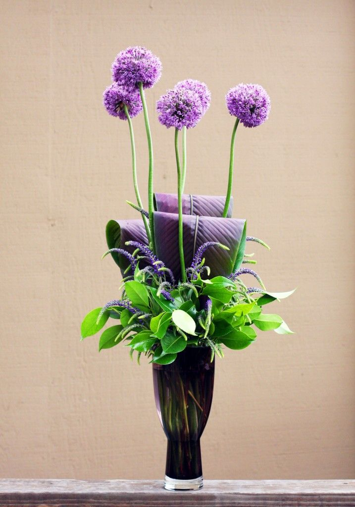 Whimsical Arrangement Featuring Giant Allium Flower