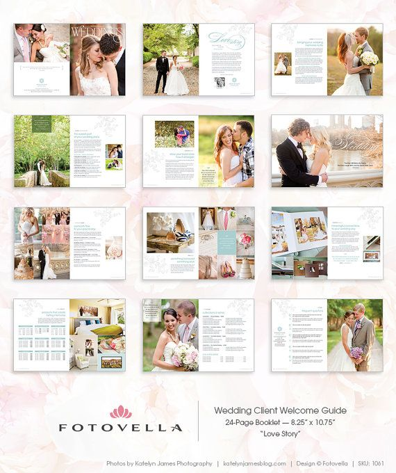 Wedding Photography Marketing Brochure Magazine Style Client Welcome Guide Photoshop Template