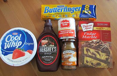 The Country Cook: Butterfinger Cake - because we always have leftover Butterfingers after Halloween!: Cakes Parties, Country Fingers Food, Butterfinger Cakes, Country Cooking, Christmas Eve, Cakes Ingredients, Butterf Cakes, Butter Fingers Cakes, Devil Food Cakes