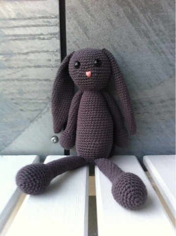 Crochet bunny, made by a friend of mine.