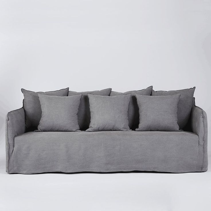 Sectional Sofa The Bronte Ash Grey Linen Sofa with Arms Modern and Contemporary Lounge Urban Couture Linen SofaFurniture OnlineFurniture