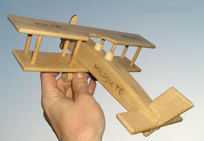 Flugzeug Holz-spielzeug.