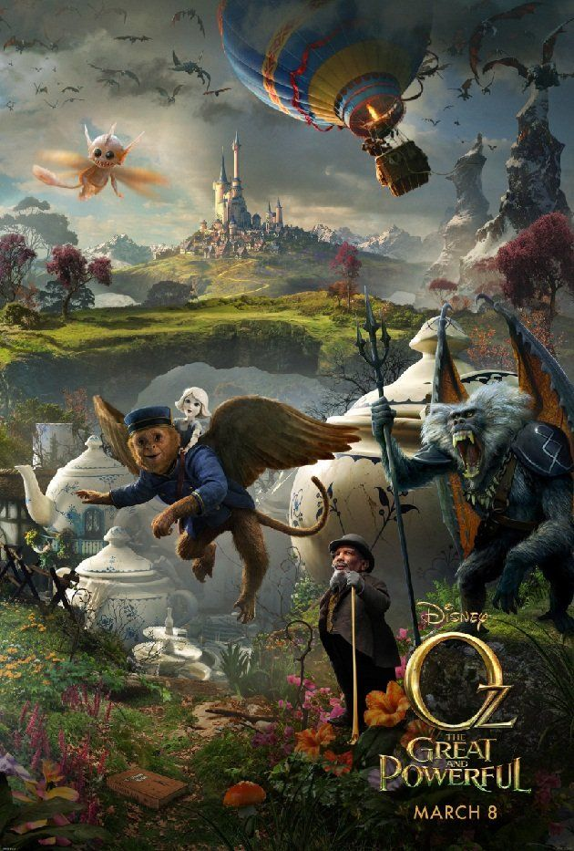 Poster for the upcoming 'Oz the Great & Powerful,' from Disney, a prequel to the old 'Wizard of Oz,' it seems!