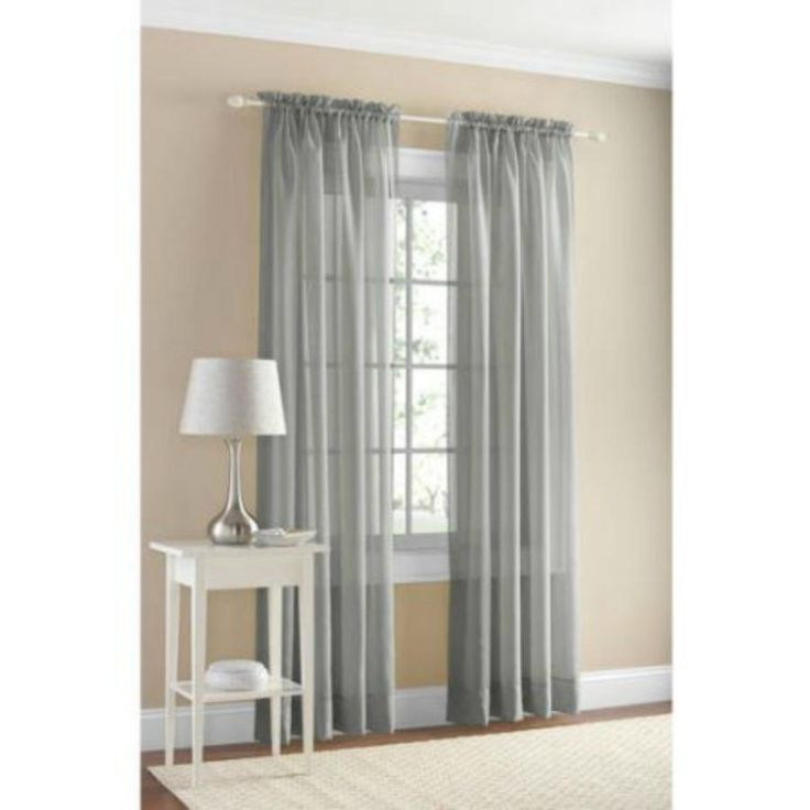 Mainstays Marjorie Sheer Voile Curtain Panel 59