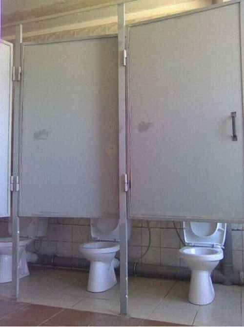 Semi private restroom, very semi. funny fail humor