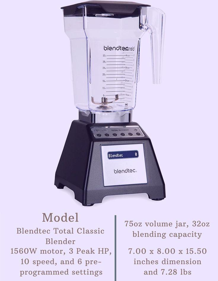 Blendtec total classic blender in 2020 blendtec blender