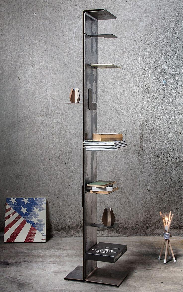 metal furniture industrial furniture furniture ideas shelving design bookshelf styling book storage bookcases lofts shelves