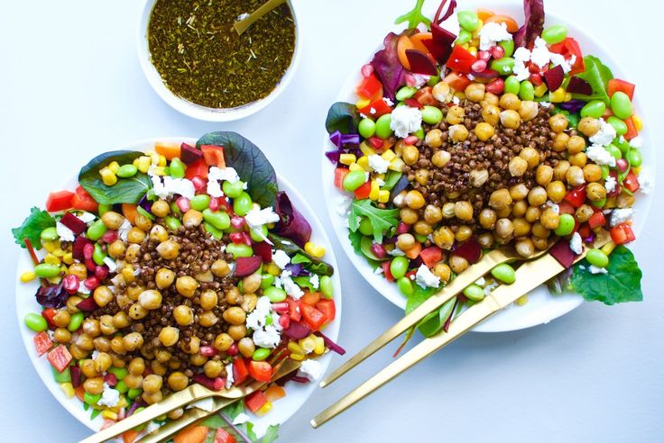 Easy everyday food // My go-to rainbow bowl with chickpeas and lentils