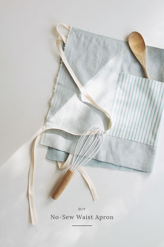 Use Fabri-Tac for this DIY no-sew waist apron   almost makes perfect