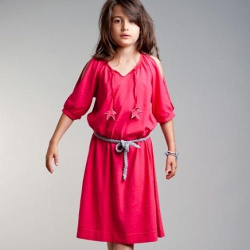 Robe Fille Fuchsia Etoile - Designer: Jack n'a Qu'un Oeil