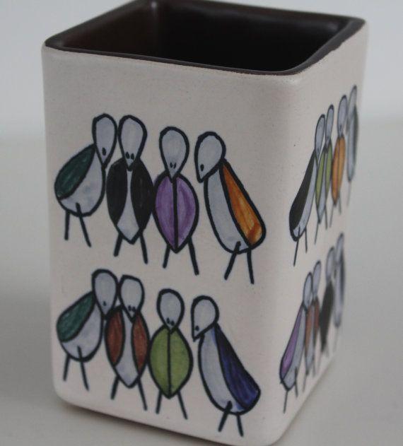 Lovely 1950's Bird vase by Kupittaan Savi by FinnishTreasures, $236.00