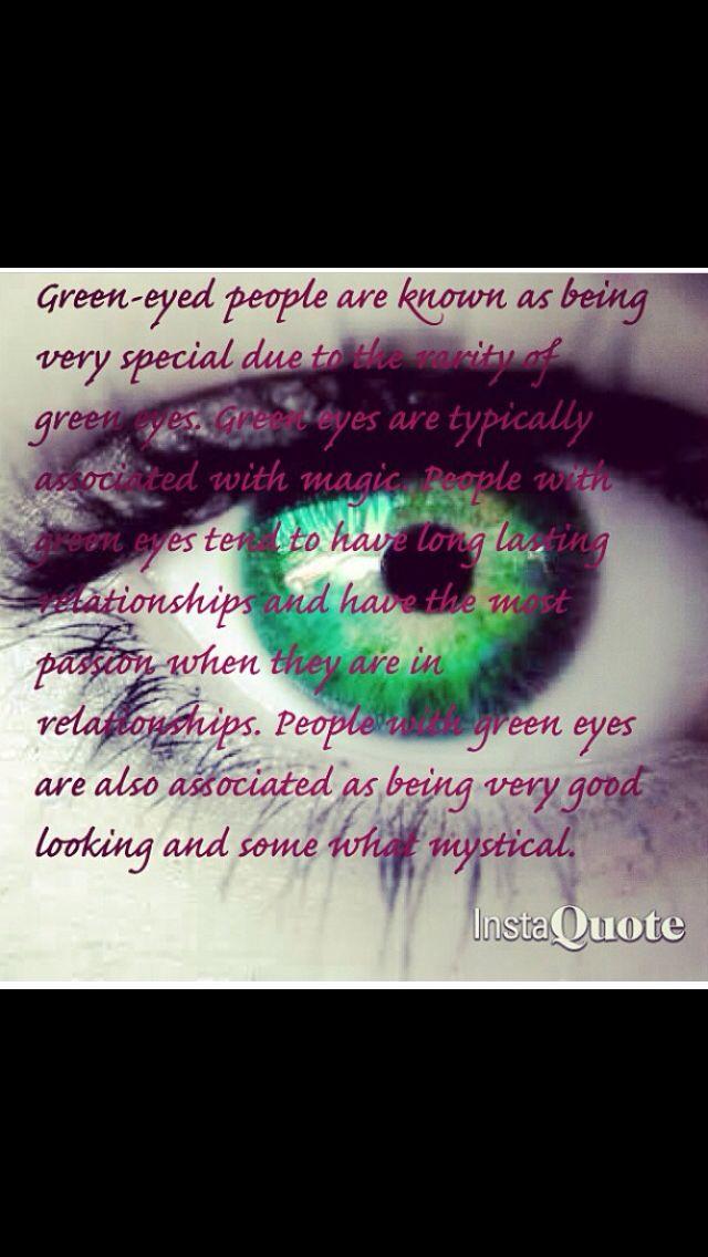 yay I have green eyes <3