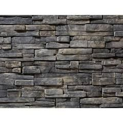 ClipStone Prostack Ash Flats 26-3/4 in. x 16 in. 8 sq. ft. Manufactured Stone (22-Piece per Carton), Gray - Natural Stone Finish