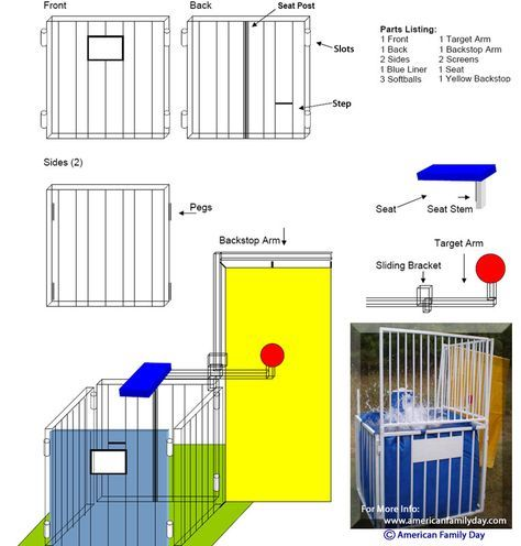 How To Make A Dunk Tank | Dunk Tank Instructions from American Family Day