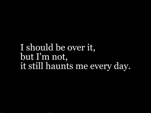 It's hard for me to get over something.