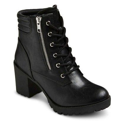 Women's Mossimo Supply Co Easton Chunky Heel Combat Boots