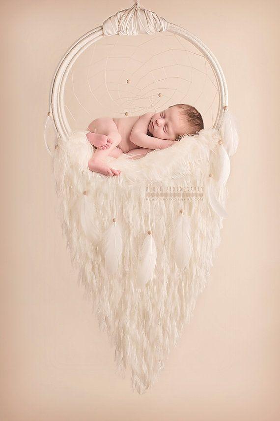 Newborn dreamcatcher photography prop. by MaddyArtisanat on Etsy