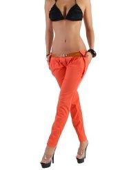 Sexy Damen Chinohose Reiterhose mit Gürtel in 9 Farben 32 XXS - 38 M