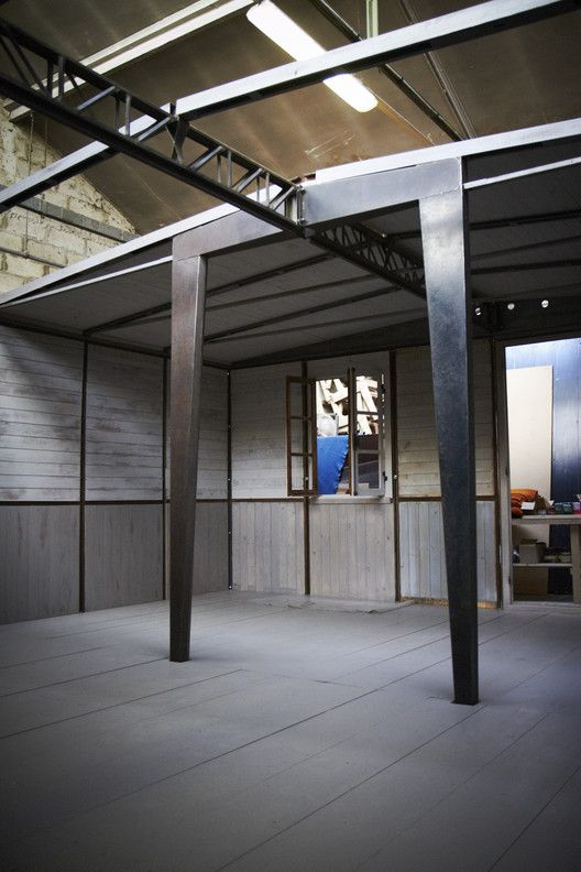 A demountable house installed by Bally at Design Shanghai 2015. Image Courtesy of Forward