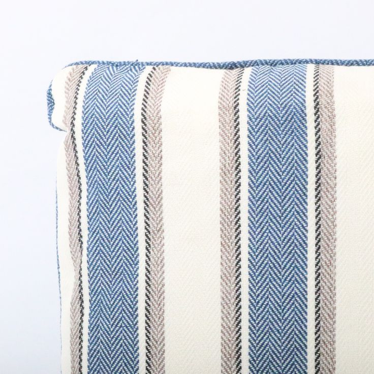 The Sienna Stripe Blue Cushion exudes a traditional yet simplistic design. The striped pattern explores a range of tonal variety that is assert to compliment any traditionally decorated living space. The cushion is priced at £9.