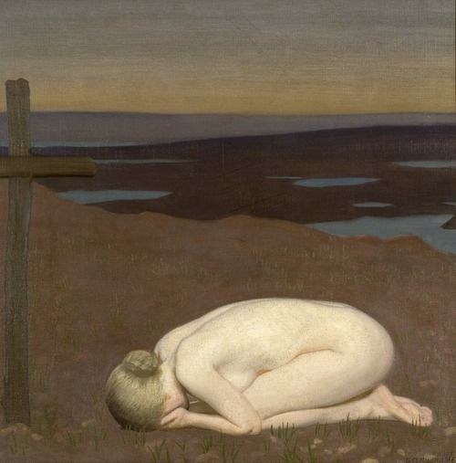 George Clausen, Youth Mourning, 1916