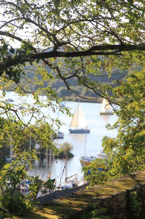 A view of La Vilaine in La Roche-Bernard in the Morbihan (France). Have a good day !