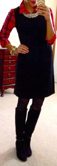 Plaid button up under sheath dress | Flourish Boutique dress