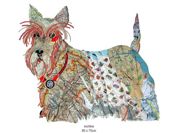 For artist Peter Clark, dogs inspire creativity... http://www.peterclarkcollage.com/pages/dogs.html