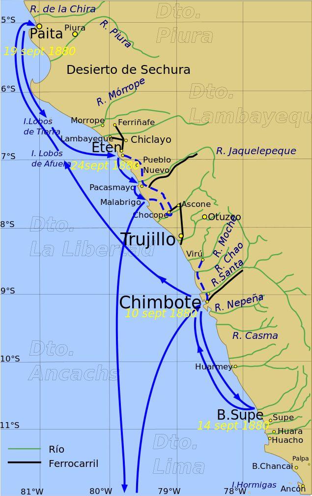 Expedicion Lynch (1880) - Guerra del Pacífico - Wikipedia, la enciclopedia libre