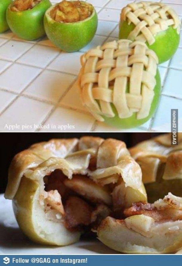 Appeltaart in een appel Door fenneke94